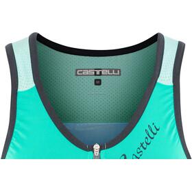 Castelli Solare Top Mujer, tourquase/green/aruba blue